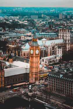 aerial photography of elizabeth tower london